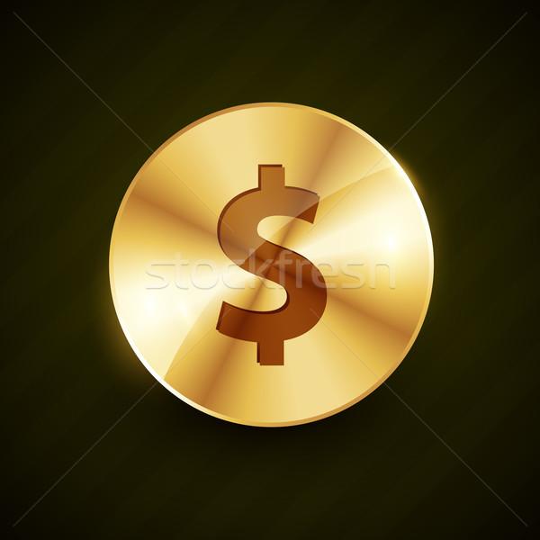 ストックフォト: ドル · シンボル · 刻ま · コイン · デザイン