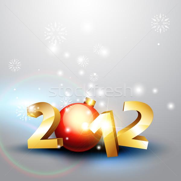 2012 happy new year Stock photo © Pinnacleanimates