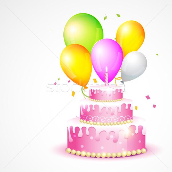 illustration of birthday card Stock photo © Pinnacleanimates