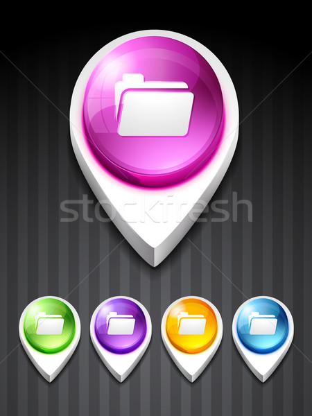 vector folder icon Stock photo © Pinnacleanimates