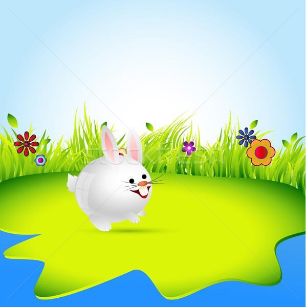 rabbit vector Stock photo © Pinnacleanimates
