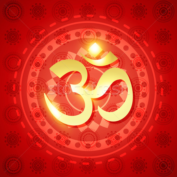 shiny hindu om Stock photo © Pinnacleanimates