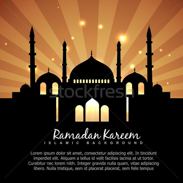 Ramadán iszlám gyönyörű absztrakt háttér csillag Stock fotó © Pinnacleanimates