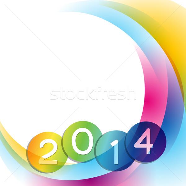 colorful wave design Stock photo © Pinnacleanimates