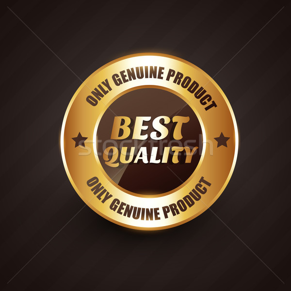 best quality premium label badge with genuine products design Stock photo © Pinnacleanimates