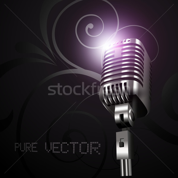 vector mic in dark background Stock photo © Pinnacleanimates
