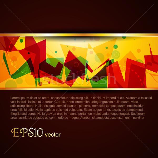 Vektör şablon güzel renkli dizayn sanat Stok fotoğraf © Pinnacleanimates