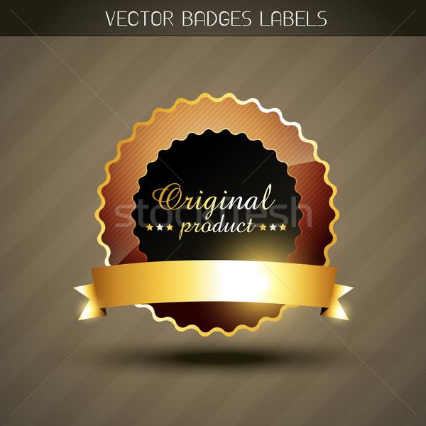 оригинальный продукт Label вектора стиль Сток-фото © Pinnacleanimates