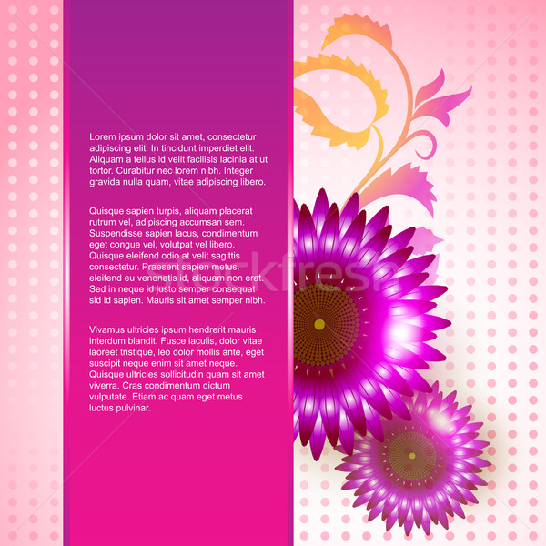 pink color flower background Stock photo © Pinnacleanimates
