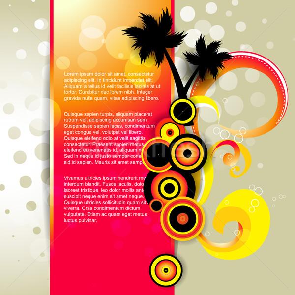 Zomer stijlvol vector boom ontwerp abstract Stockfoto © Pinnacleanimates