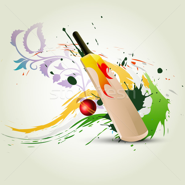 Vector cricket bat abstract zomer leuk Stockfoto © Pinnacleanimates