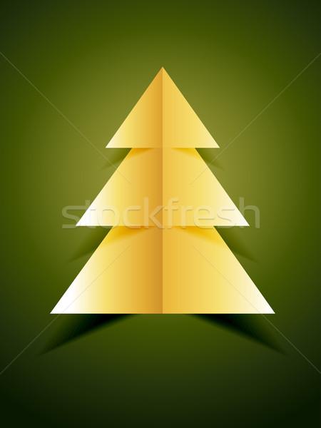 creative golden xmas tree Stock photo © Pinnacleanimates