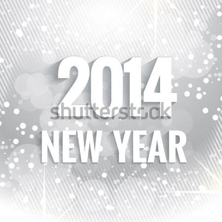 2015 Новый год текста написанный белый Сток-фото © Pinnacleanimates