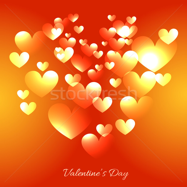 valentine day card with multiples hearts  Stock photo © Pinnacleanimates