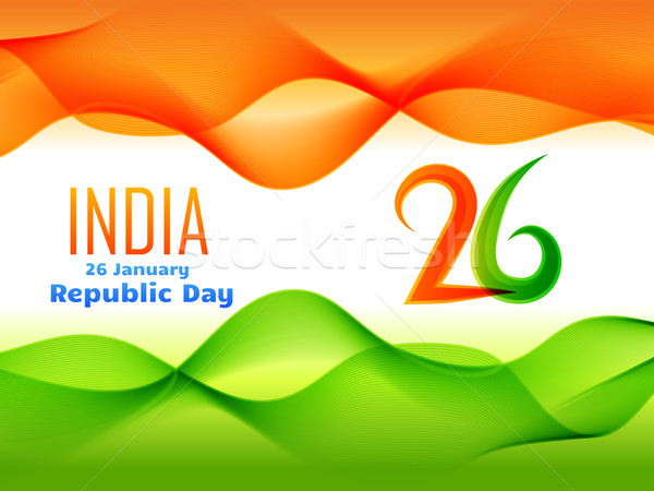indian republic day design  made in wave style illustration  Stock photo © Pinnacleanimates