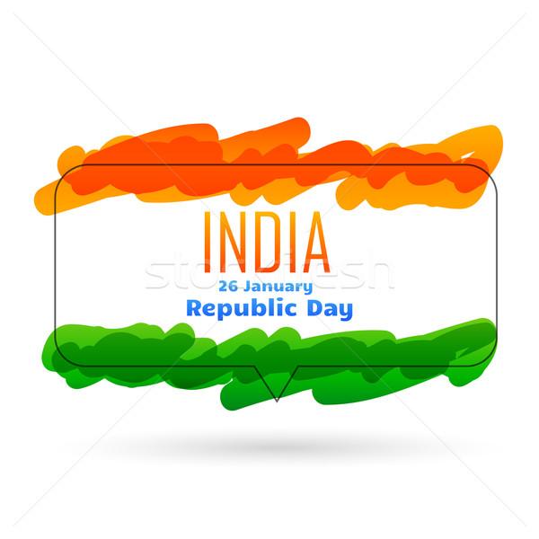indian 26th january republic day design Stock photo © Pinnacleanimates