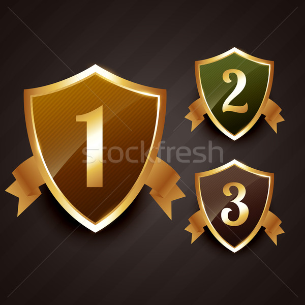 ranking label badge design in gold Stock photo © Pinnacleanimates