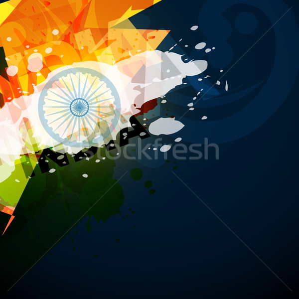 Abstrakten indian Flagge Stil Raum Design Stock foto © Pinnacleanimates