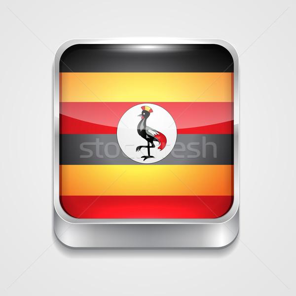 Stock fotó: Zászló · Uganda · vektor · 3D · stílus · ikon