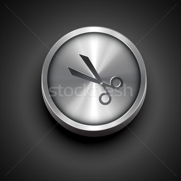 scissor icon Stock photo © Pinnacleanimates
