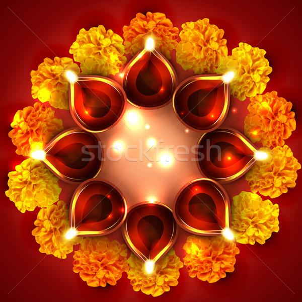 Background of diwali diya Stock photo © Pinnacleanimates