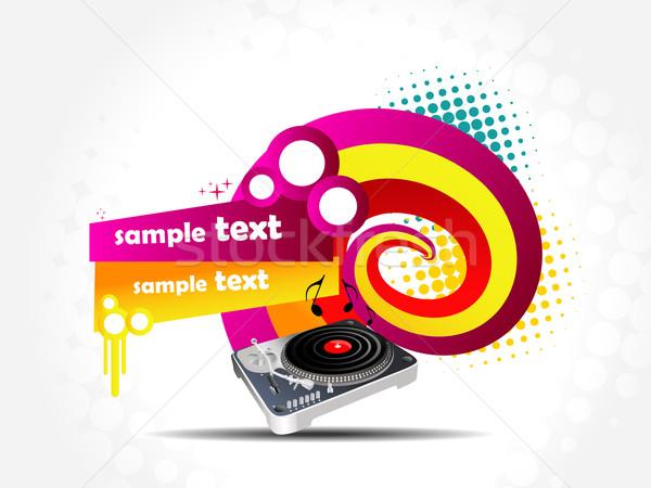 Colorful music background illustration Stock photo © Pinnacleanimates