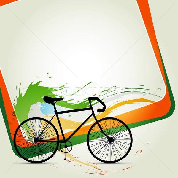 цикл вектора аннотация Живопись велосипед скорости Сток-фото © Pinnacleanimates