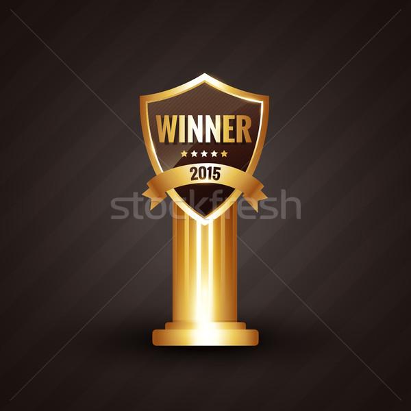 Vencedor 2015 dourado etiqueta projeto fita Foto stock © Pinnacleanimates