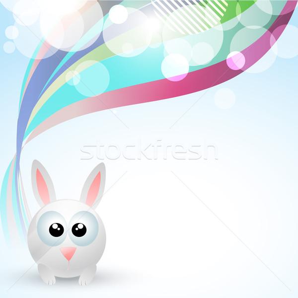 Cute lapin vecteur espace Pâques printemps Photo stock © Pinnacleanimates