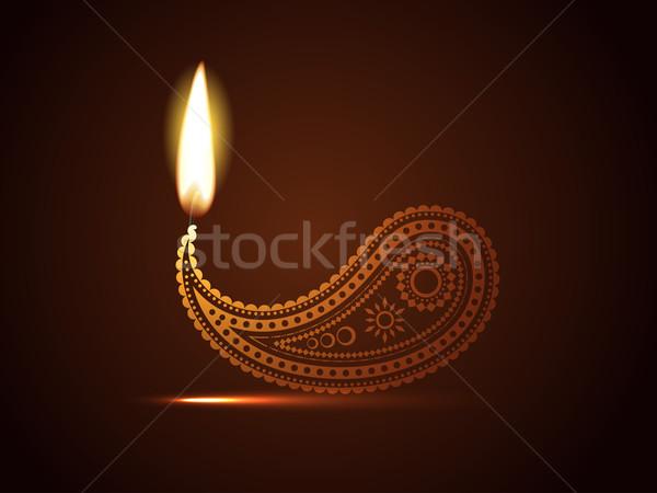 Stock photo: creative diwali diya
