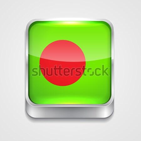 Foto stock: Bandeira · Bangladesh · vetor · 3D · estilo · ícone