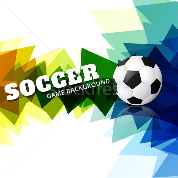 Creativa fútbol diseno colorido partido de fútbol deportes Foto stock © Pinnacleanimates