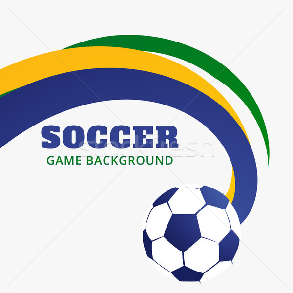 Foto stock: Partido · de · fútbol · diseno · fútbol · deportes · ola · color