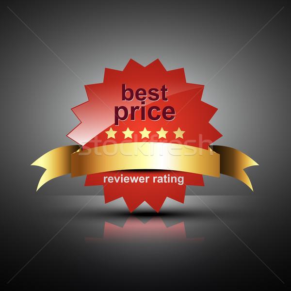 Vektor legjobb ár címke piros szín felirat Stock fotó © Pinnacleanimates