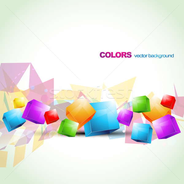 colorful cube abstract artwork Stock photo © Pinnacleanimates