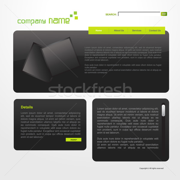 ストックフォト: ウェブサイト · テンプレート · ベクトル · ビジネス · ガラス