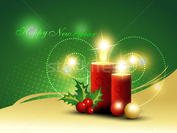christmas candle Stock photo © Pinnacleanimates