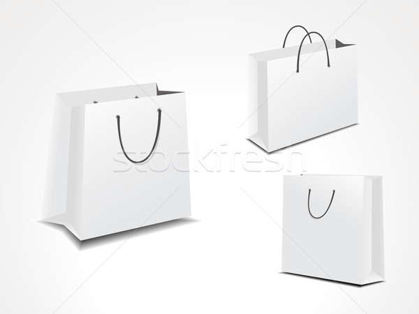 illustration set of three paper shopping bags. Stock photo © Pinnacleanimates