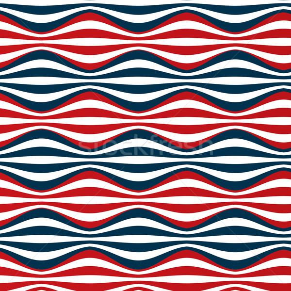 seamless red blue stripes Stock photo © Pinnacleanimates