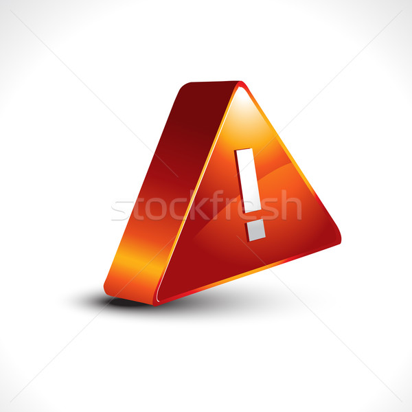 vector warning sign icon design Stock photo © Pinnacleanimates