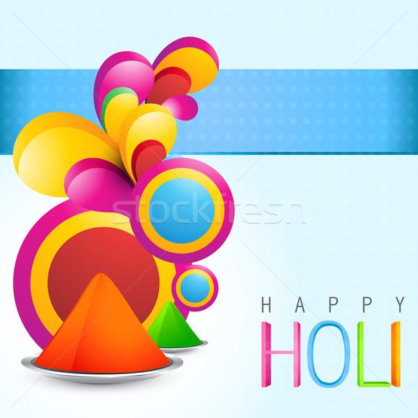 colorful holi festival Stock photo © Pinnacleanimates