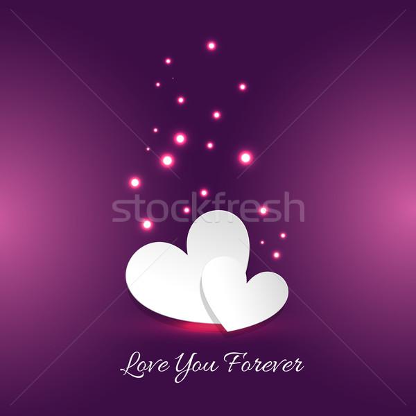 örnek sevmek sonsuza dek kart kalp parti Stok fotoğraf © Pinnacleanimates