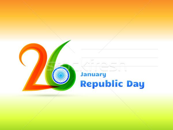 republic day design illustration Stock photo © Pinnacleanimates