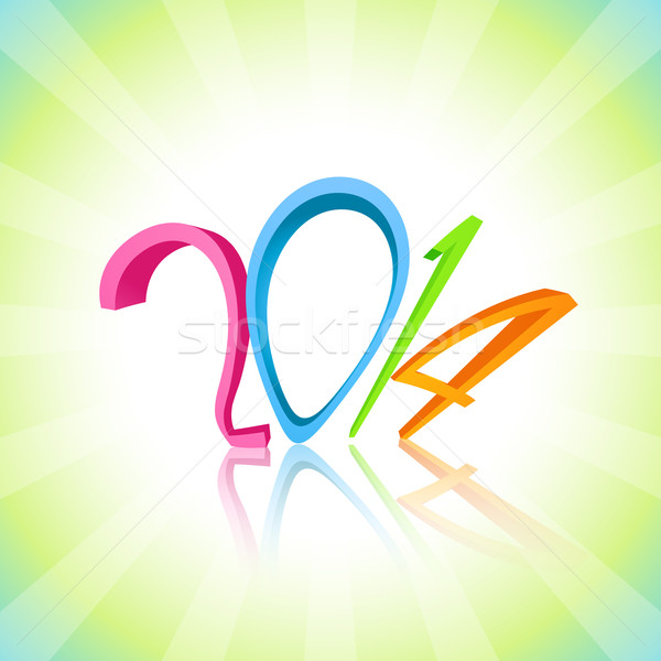 funky happy new year design Stock photo © Pinnacleanimates