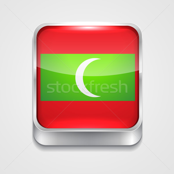 flag of maldives Stock photo © Pinnacleanimates