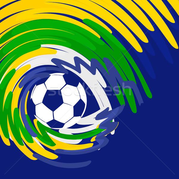Foto stock: Resumen · fútbol · vector · diseno · deportes · ola