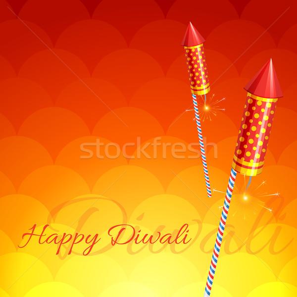 Elegante diwali vector feliz luz arte Foto stock © Pinnacleanimates