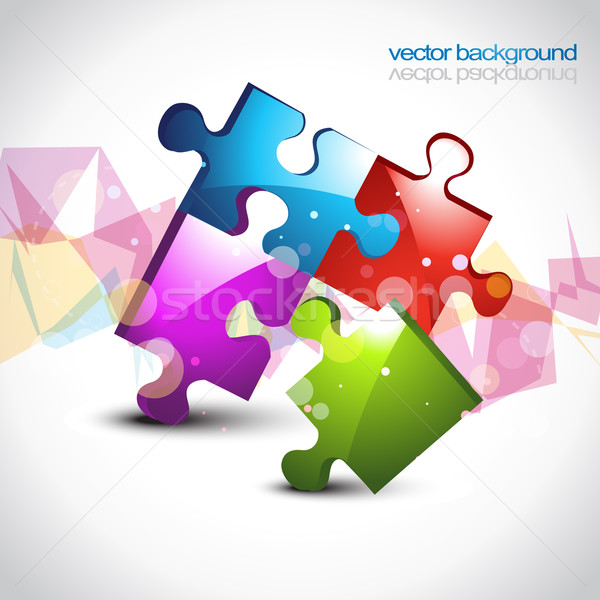 colorful puzzle eps10 vector artwork Stock photo © Pinnacleanimates