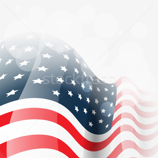 american flag vector Stock photo © Pinnacleanimates