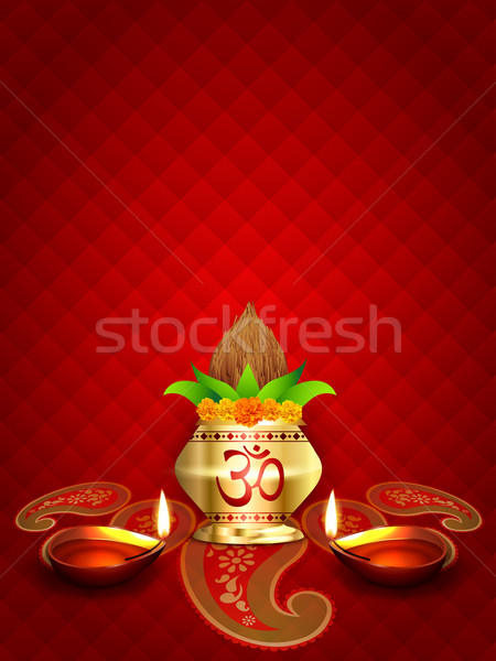 diwali diya and kalash Stock photo © Pinnacleanimates